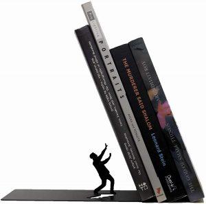 sujeta libros estantería